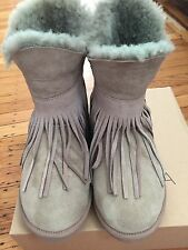 NIB Koolaburra Haley Ankle II Real Fur Sheepskin Winter SnowBoot Women 8 Seta