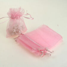 7*9cm 25/pink  ORGANZA GIFT BAGS Wedding Decoration Party Favour Packing