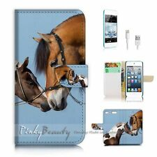 iPod Touch 6 iTouch 6 Flip Wallet Case Cover P2439 Horse Lover