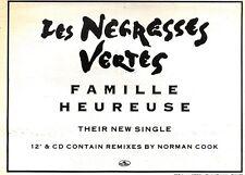 29/2/92Pgn27 Advert: Les Negresses Vertes New Single famille Heureuse 7x11