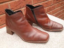 RIEKER TAN LEATHER ANKLE BOOTS UK SIZE 8  EU 41