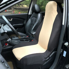 2X Universal Car Nylon Removable Front Seat Covers for Toyota FORD GMC Beige NEW