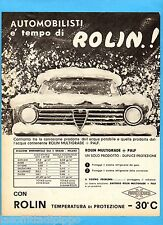QUATTROR964-PUBBLICITA'/ADVERTISING-1964- ROLIN - MULTIGRADE+PALF