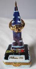 LIMOGES FRANCE PEINT MAIN EMPIRE STATE BLDG 2000 PORCELAIN TRINKET BOX  NEW