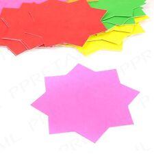 40 x ASSORTITI COLORI NEON STAR CARDS SHOP / mercato cubicolo Display Prezzo Etichetta