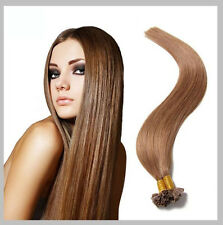 150 EXTENSIONS DE CHEVEUX POSE A CHAUD 100% NATURELS REMY HAIR CHATAIN NOISETTE