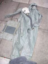 "Polish Poland ARMY NBC Rubber OVER SUIT 5'10""  Medium & Rubber mask Halloween"