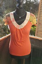 NEU T-Shirt ESPRIT Gr. XS Bluse Orange Sommer schick