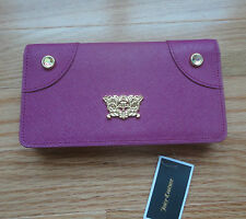 NWT Juicy Couture Sophia Cashmere Saffiano Leather Continental Wallet. Pink. $98
