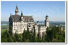 Bavarian German Castle Germany European Travel - Art Print Gift NEW POSTER