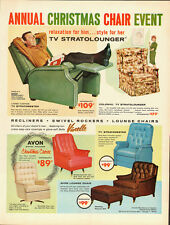 1962 Vintage ad for Colonial TV stratolounger/recliners (090713)