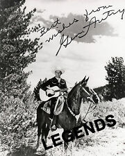 GENE AUTRY on Champion  with Guitar    AUTOGRAPHED  REPRINT