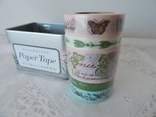 Cavallini Flora & Fauna Washi Tape 5 Roll Boxed Set Paper Butterfly Nature Bird