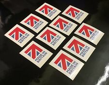 10 made in Great Britain flag Stickers self adhesive vinyl Labels decals 50 x 40