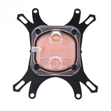50mm CPU Water Cooling radiator Block Waterblock Copper Base Cool Inner Channel