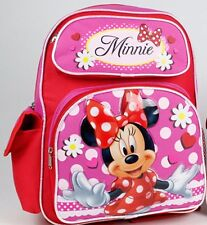 "2016 Disney Minnie Mouse Girl's 14"" Full size School Backpack Kids Bag -U.S.SHIP"