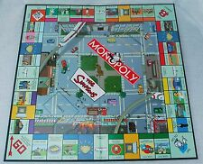2001 The SIMPSONS MONOPOLY Parts Replacement - GAME BOARD Simpsons Locations