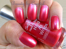 Sally Hansen Hard As Nails Hard As Wraps Polish- CORAL CREME Pink Coral Shimmer