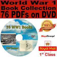 World War One 76 Book Collection in PDF format on DVD WW1 plus reader