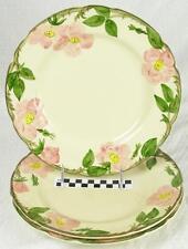 Set of 3 Vintage Franciscan Desert Rose Large Dinner Plates - Beautiful! (HH)
