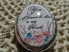 MEMORIAL URN LOCKET-- LOSS OF A LOVED ONE You will forever be close to my heart