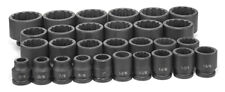 "Grey Pneumatic 8129 3/4"" Drive 12 Point 29 Piece Sae Master Set Impact Socket"