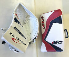 MISMATCH SPECIAL New ice hockey goalie blocker catcher glove junior set DR