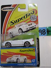 MATCHBOX 2004 SUPERFAST FORD MUSTANG GT #47 WHITE