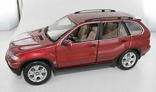 Red BMW X5 4.4i - 1:18 Scale - by Kyosho -  Die Cast Model