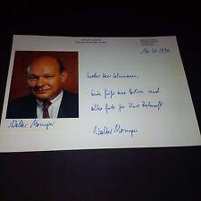 WALTER MOMPER (SPD BÜRGERMEISTER BERLIN) signed Autogrammkarte & Pappe 20x30