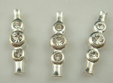 5pcs silver Plated  Spacer Bead Decorative Accessories 3 holes g3