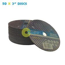 """Paquete de 50 x 3""""/75mm cortar discos para Acero Inoxidable"""