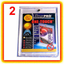 2 Ultra Pro ONE TOUCH MAGNETIC 55pt UV Card Holder Display Case 81909-UV 55