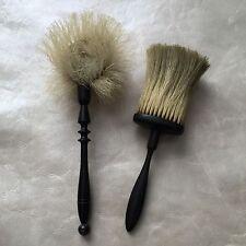 Lot de 2 Belles Brosses Anciennes XIXè Napoléon III Bois Noirci Antique Brush