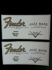 Decalcomanie decal Fender Jazz Bass 67' ad acqua