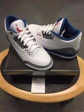 Nike Air Jordan 3 Retro True Blue 2009 Nuovissimo Uk 9.5 Stati Uniti 10.5