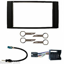 FORD FOCUS C MAX 2005 ONWARDS BLACK DOUBLE DIN FASCIA FACIA FITTING PACKAGE KIT