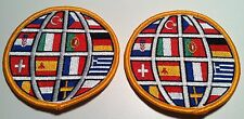2 World Soccer Ball Iron On Patch W/ France, Turkey, Spain, Serbia & Others.