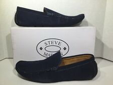 Steve Madden Stitchh Mens Size 11 Navy Suede Loafer Slip On Shoes X-10