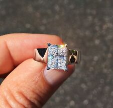 5 ct Radiant Cut Ring Top Russian Quality CZ Moissanite Simulant Size 7