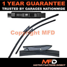 "FOR RENAULT MEGANE GRANDTOUR 2009- DIRECT FIT FRONT AERO WIPER BLADES 24"" 16"""