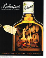 PUBLICITE ADVERTISING 065  2000  BALLANTINE'S  whisky  LES OIES BLANCHES