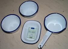 Lakeland Traditional Enamel Ware - Milk Pan, Pie Dish & 2x Round Dishes - New