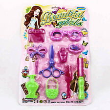 Set Of Beauty Tools Supply Girl Children Salon Hair Plastic Toy Play Kid A0202
