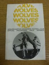 02/03/1968 Wolverhampton Wanderers v Liverpool  (Creased, Folded, Worn). Conditi