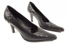 Lorbac Black Leather Heels Super Condition Uk 3 Eu 36