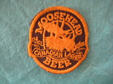 "Vintage Moosehead Canadian Lager Beer  Patch 2 3/4 "" X3 """