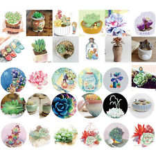 46Pcs/boîte Mini Stickers à Motif de Plantes Succulentes DIY d'Album Journal