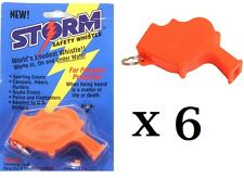 Storm Whistle Orange 6 pack  Loudest Whistle in World totally waterproof