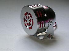 motor sirene chrome alarme 12v a galet siren moto idee cadeau  moto bobber